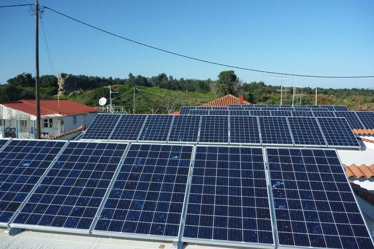 Εγκατάσταση φωτοβολταϊκών σε δώμα, περιοχή Κυλλήνης