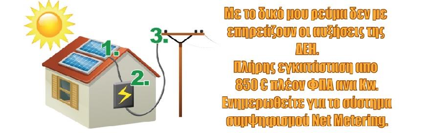 Παραγωγή Ηλεκτρικής Ενέργειας- Net Metering
