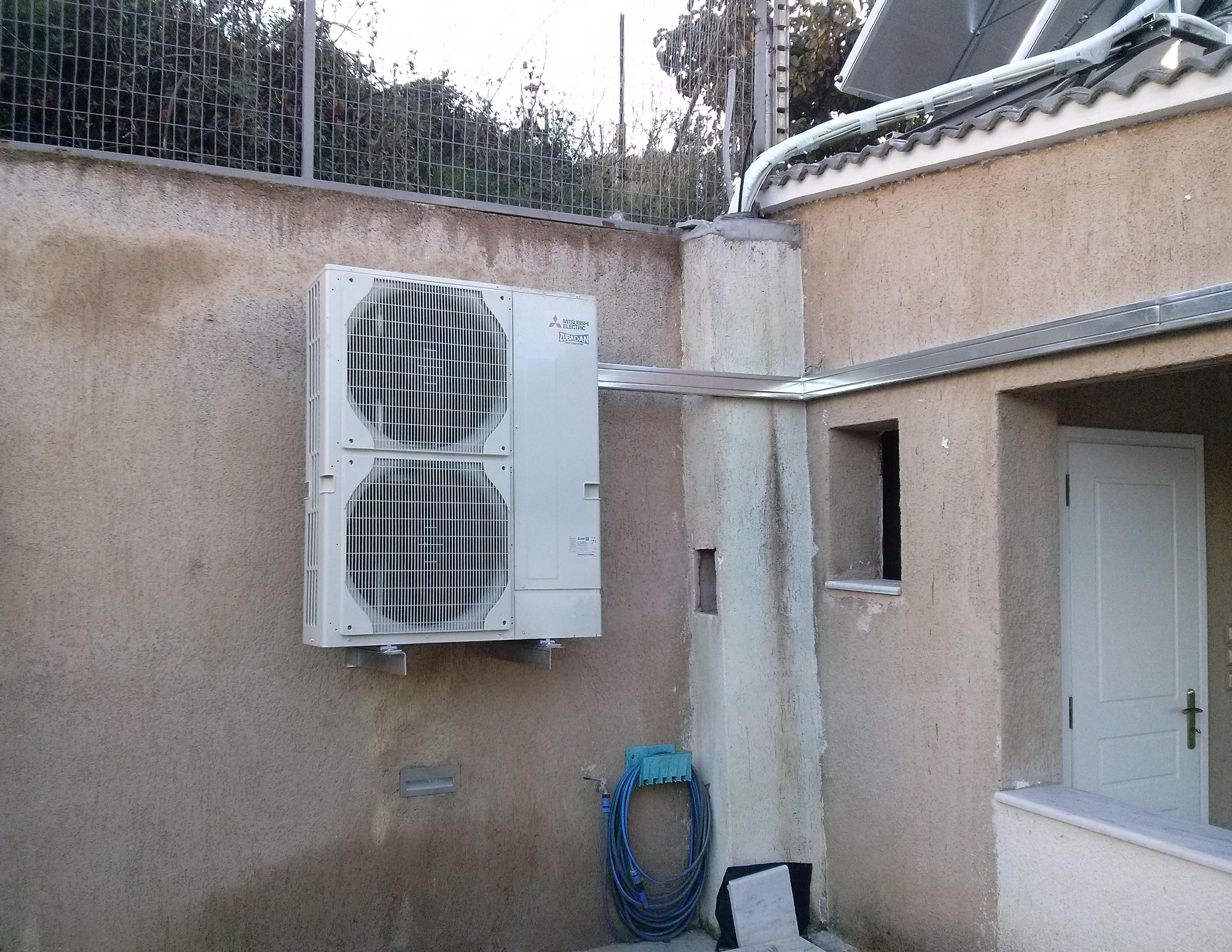 Αντλία Θερμότητος 23 kW MITSUBISHI ELECTRIC ZUBADAN (Εξωτερική μονάδα) σε κατοικία στο Μαρκόπουλο Ωρωπού