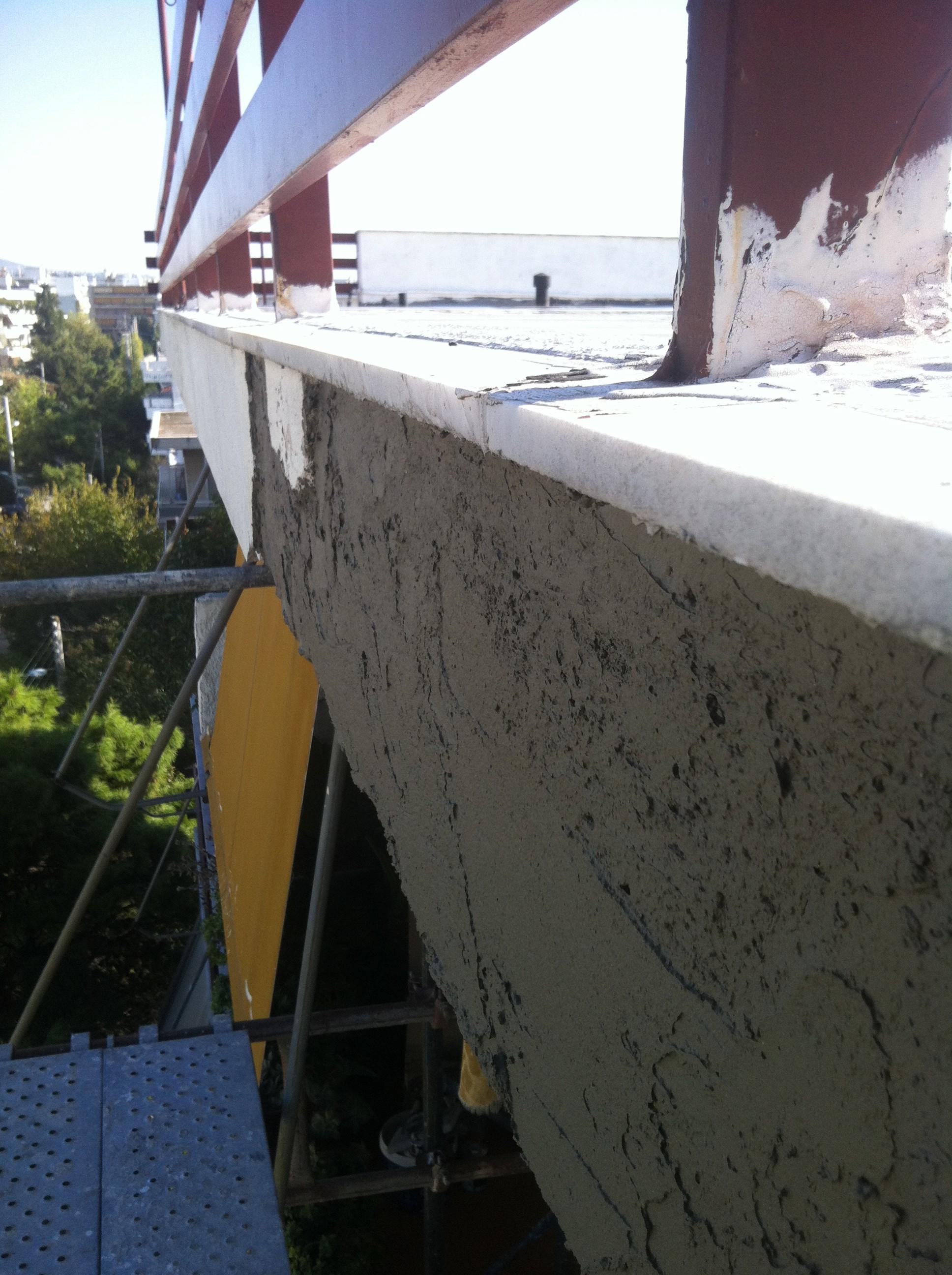 Αποκατάσταση επιχρισμάτων στον 5ο όροφο πολυκατοικίας στο Μαρούσι -1