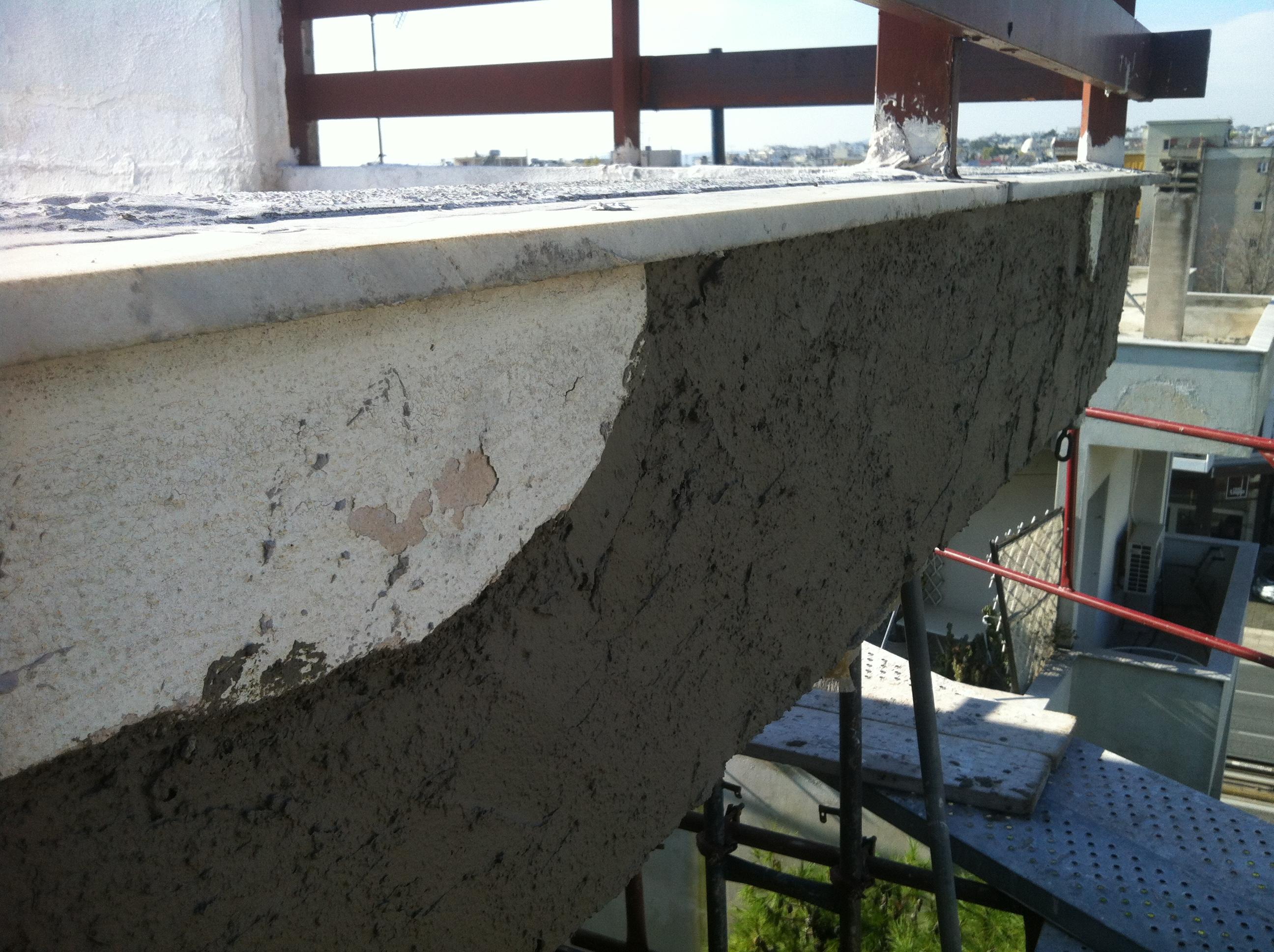 Αποκατάσταση επιχρισμάτων σε στον 5ο όροφο πολυκατοικίας στο Μαρούσι